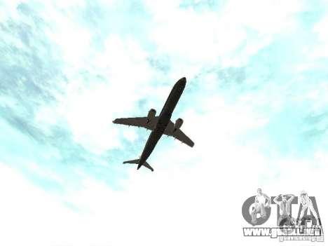 Embraer E-190 para vista lateral GTA San Andreas