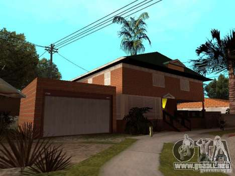 La casa de CJ en ruso para GTA San Andreas segunda pantalla