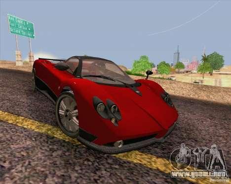 Pagani Zonda F v2 para visión interna GTA San Andreas
