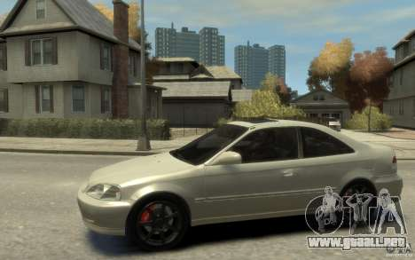 Honda Civic Si 1999 para GTA 4 left