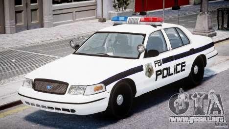 Ford Crown Victoria FBI Police 2003 para GTA 4 left