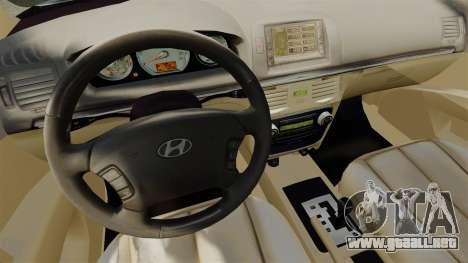 Hyundai Sonata 2008 para GTA 4 vista hacia atrás