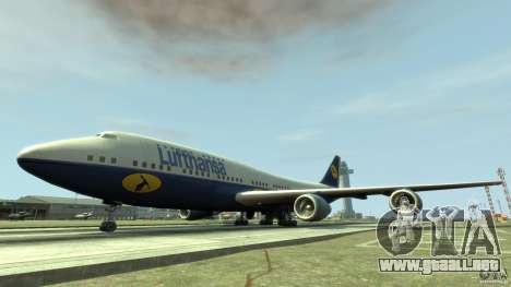 Lufthansa Airplanes para GTA 4 left