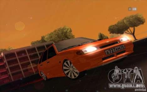 2114 Ваз con jugo de naranja para GTA San Andreas vista posterior izquierda