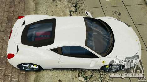Ferrari 458 Italia 2010 v2.0 para GTA 4 visión correcta