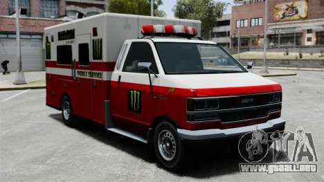 Primeros auxilios Monster Energy para GTA 4 left