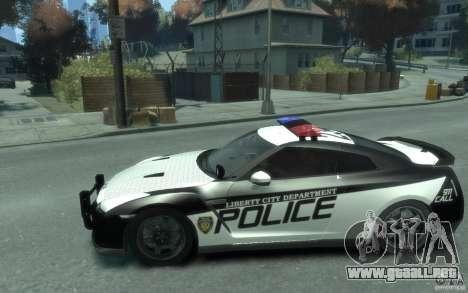Nissan GT-R R35 Police para GTA 4 left