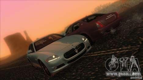Maserati Quattroporte Sport GT V1.0 para vista inferior GTA San Andreas
