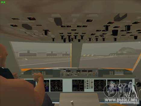 Sukhoi Superjet-100 para la vista superior GTA San Andreas