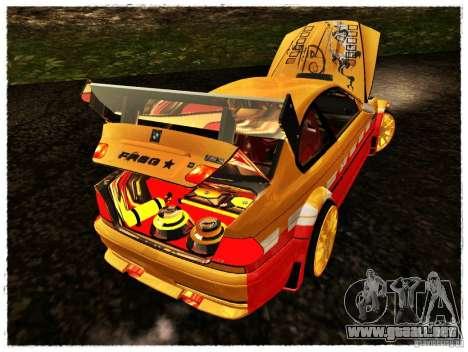 BMW M3 Calibri-Ace para GTA San Andreas vista hacia atrás