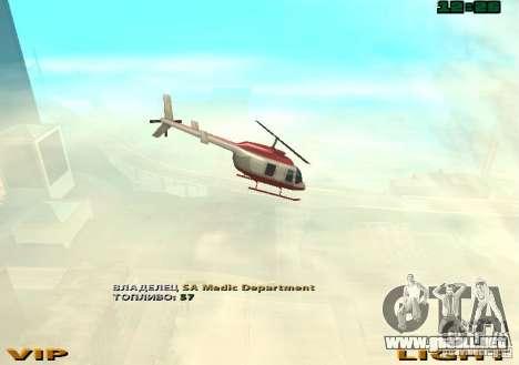 New Maverick para GTA San Andreas vista hacia atrás