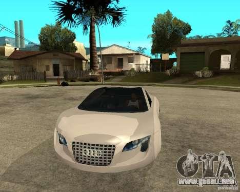 AUDI RSQ concept 2035 para GTA San Andreas vista hacia atrás