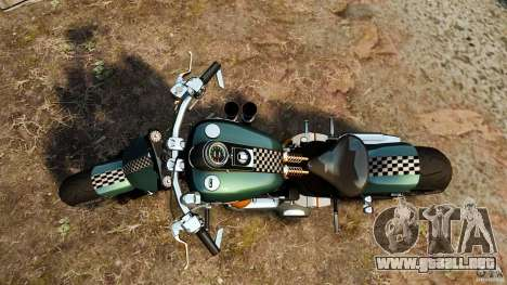 Harley Davidson Fat Boy Lo Racing Bobber para GTA 4 visión correcta