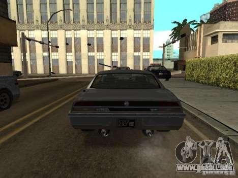 Sable de GTA 4 para GTA San Andreas vista posterior izquierda