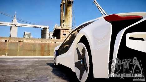 BMW Vision Efficient Dynamics 2012 para GTA 4 Vista posterior izquierda