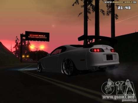 Toyota Supra v2 (MyGame Drift Team) para visión interna GTA San Andreas