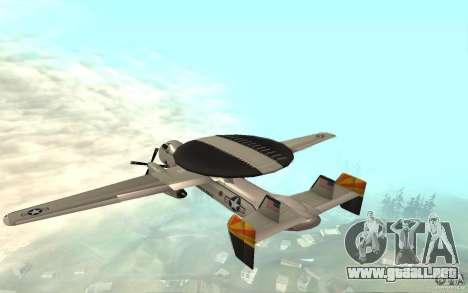 E-C2 Hawkeye para GTA San Andreas vista posterior izquierda
