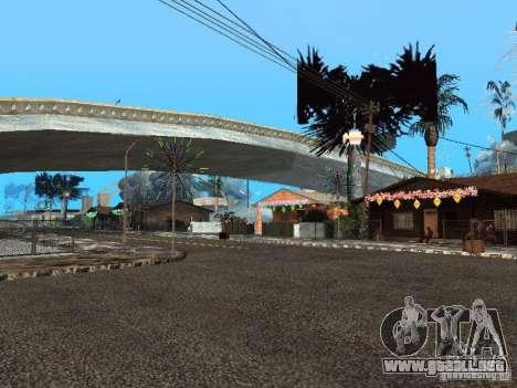 Víspera de año nuevo en la calle Grove para GTA San Andreas tercera pantalla