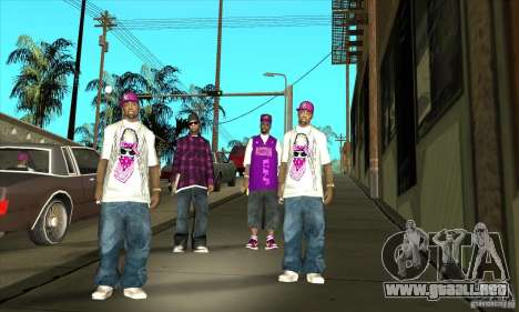Reemplace todas las pieles East Side Ballas para GTA San Andreas