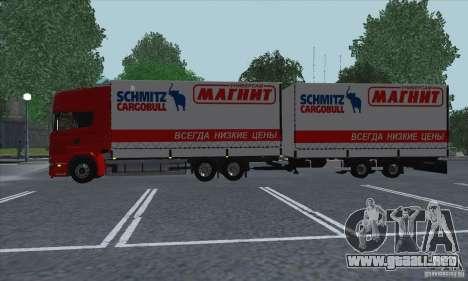 Trailer de Scania R620 para GTA San Andreas vista hacia atrás