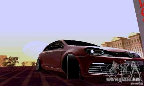 Volkswagen Golf GTI 2011 para GTA San Andreas vista hacia atrás