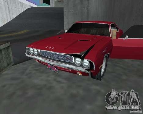 Dodge Challenger V1.0 para GTA San Andreas vista hacia atrás