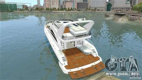 Luxury Yacht para GTA 4 vista hacia atrás