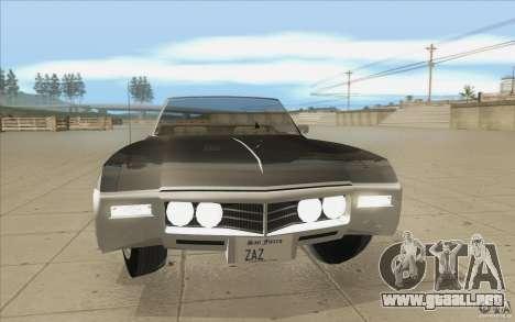 Buick Riviera GS 1969 para la vista superior GTA San Andreas