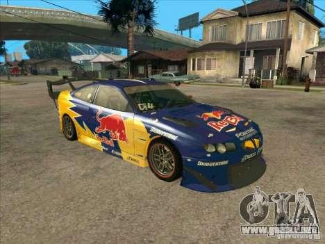 Pontiac GTO Red Bull para GTA San Andreas left