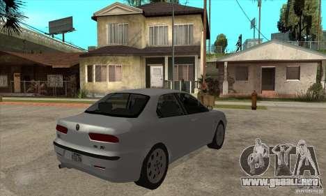 Alfa Romeo 156 2,5V6 2000 para la visión correcta GTA San Andreas
