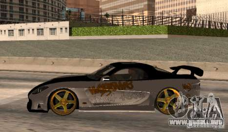 Mazda RX-7 MyGame Drift Team para GTA San Andreas left