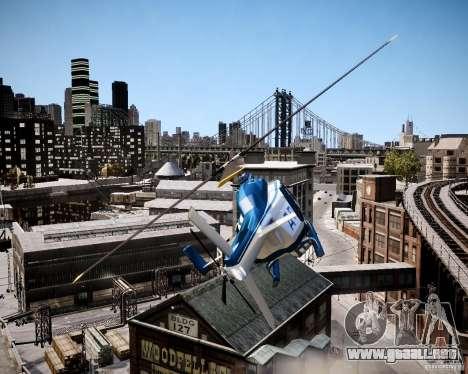 Russian Police Maverick para GTA 4 vista hacia atrás