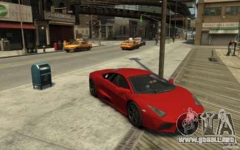 Lamborghini Reventon Coupe para GTA 4 vista hacia atrás