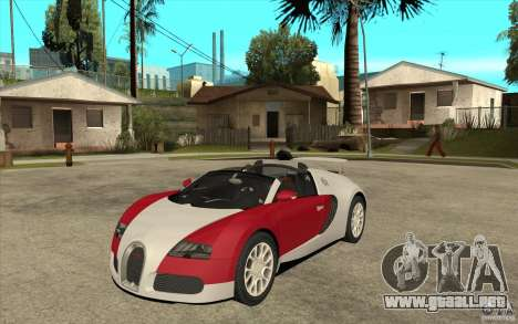 Bugatti Veyron Gran Sport 2011 para GTA San Andreas