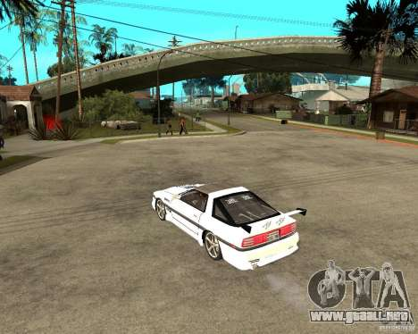 Toyota Supra MK3 Tuning para GTA San Andreas vista posterior izquierda