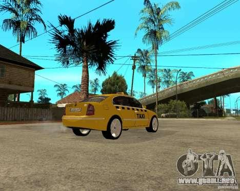 Skoda Superb TAXI cab para la visión correcta GTA San Andreas