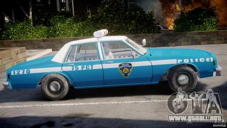 Chevrolet Impala Police 1983 v2.0 para GTA 4 Vista posterior izquierda