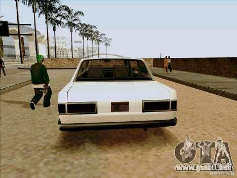 Admiral Limo para GTA San Andreas vista hacia atrás