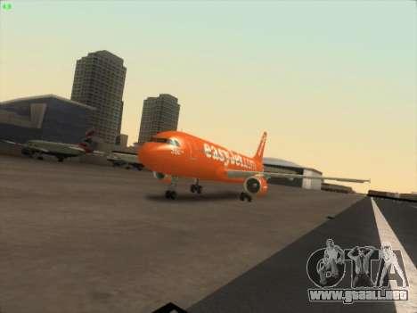 Airbus A320-214 EasyJet 200th Plane para GTA San Andreas vista hacia atrás