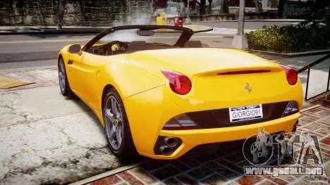 Ferrari California v1.0 para GTA 4 Vista posterior izquierda