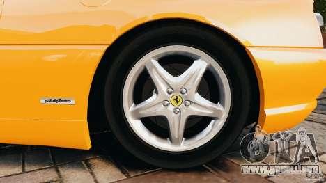 Ferrari F355 F1 Berlinetta para GTA 4 vista lateral