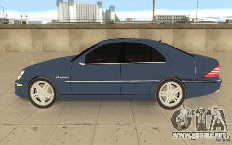 Mercedes-Benz S-Klasse para GTA San Andreas left
