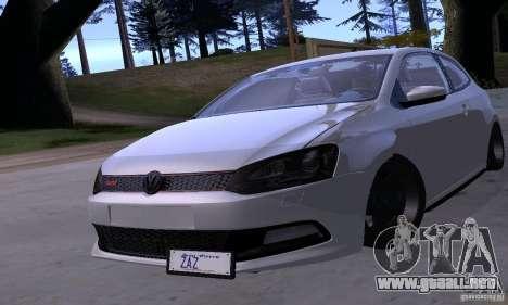 Volkswagen Polo GTI Stanced para vista lateral GTA San Andreas