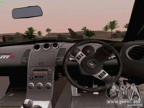 Nissan 350Z Nismo S-Tune para la vista superior GTA San Andreas