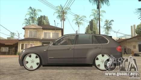 BMW X5 dubstore para GTA San Andreas left
