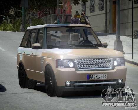 Land Rover SuperSharged para GTA 4 Vista posterior izquierda