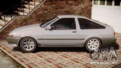 Toyota Sprinter Trueno 1986 para GTA 4 left