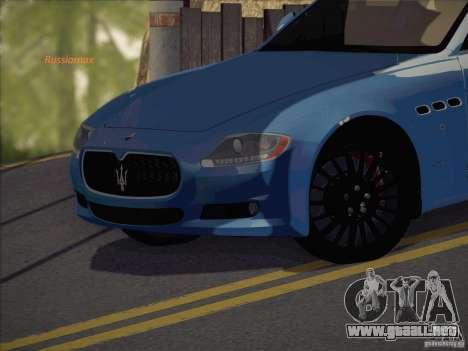 Maserati Quattroporte v3.0 para GTA San Andreas vista posterior izquierda