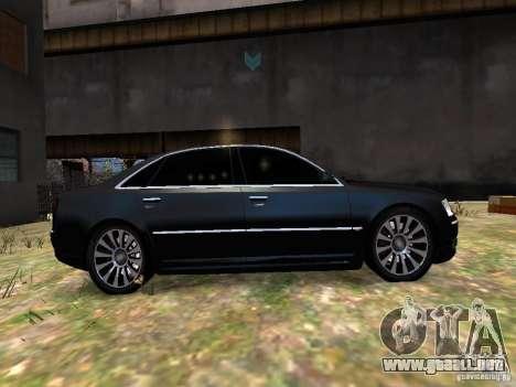 Audi A8L W12 para GTA 4 vista interior
