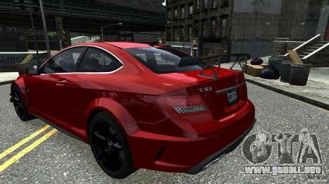 Mercedes Benz C63 AMG Black Series 2012 para GTA 4 visión correcta